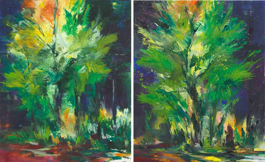 Bernd Zimmer - Magic Tree III, 2013 - Magic Tree IV, 2014 munich karl munich price galerie
