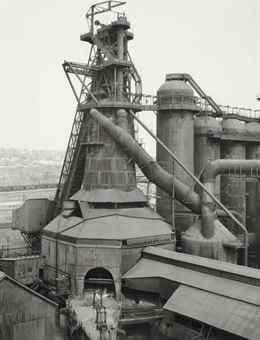 Bernd and Hilla Becher-Youngstown Works Blast Furnace 2-1981