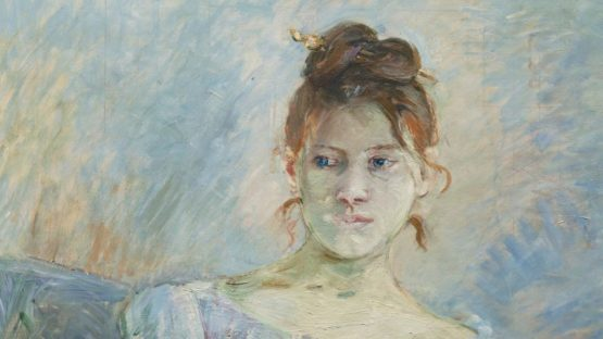 Berthe Morisot - Paule Gobillard en robe de bal (Detail), 1887 - Image source Wikipedia