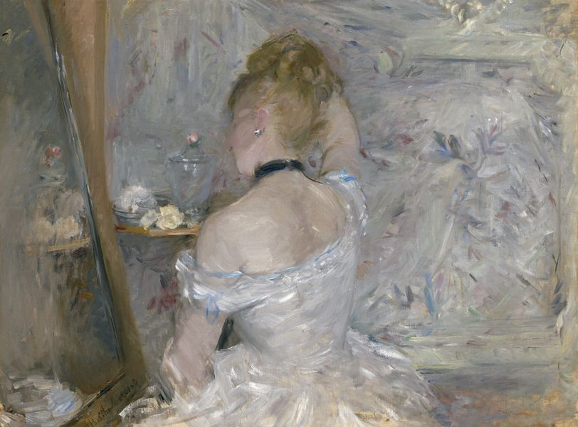 Berthe Morisot - Woman at Her Toilette, 1875-1880, National Gallery