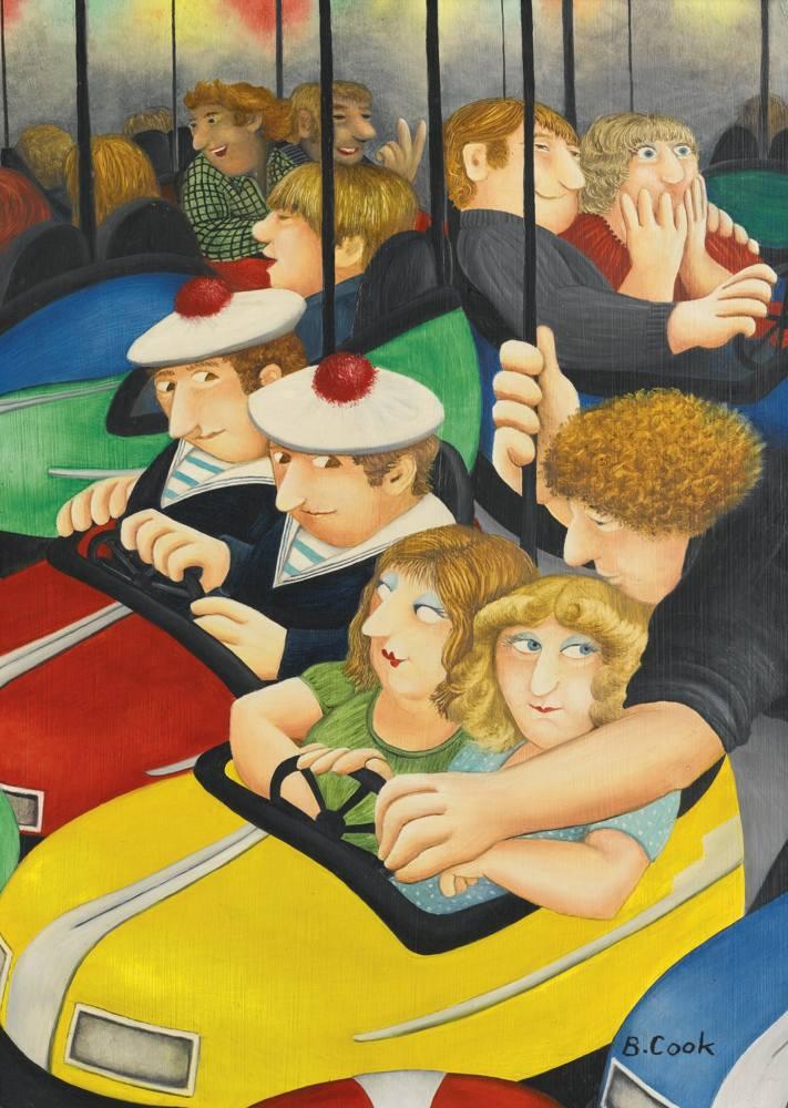 Beryl Cook-Bumper Cars-