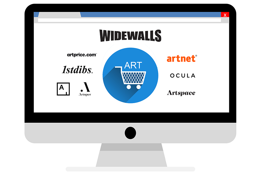 Best online marketplaces for buying and selling art online, an illustration