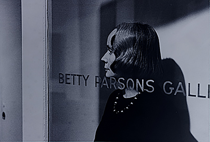 Betty Parsons (American) in her gallery which launched Jackson Pollock among others