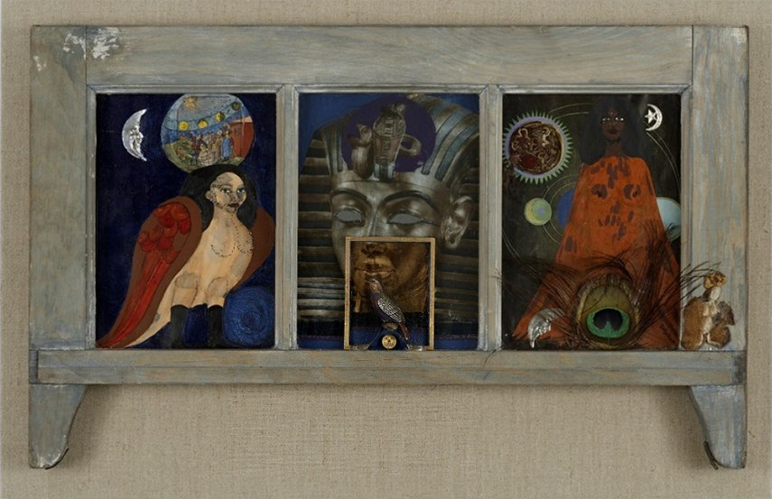 Betye Saar -Window of Ancient Sirens, 1979 - image via artsy.net  artist contact works design  artist contact works design gallery gallery