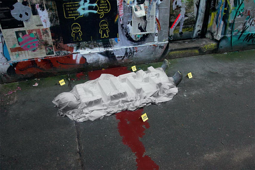 Biancosshock - Duty, Seven Deadly Sins - action in London, 2017