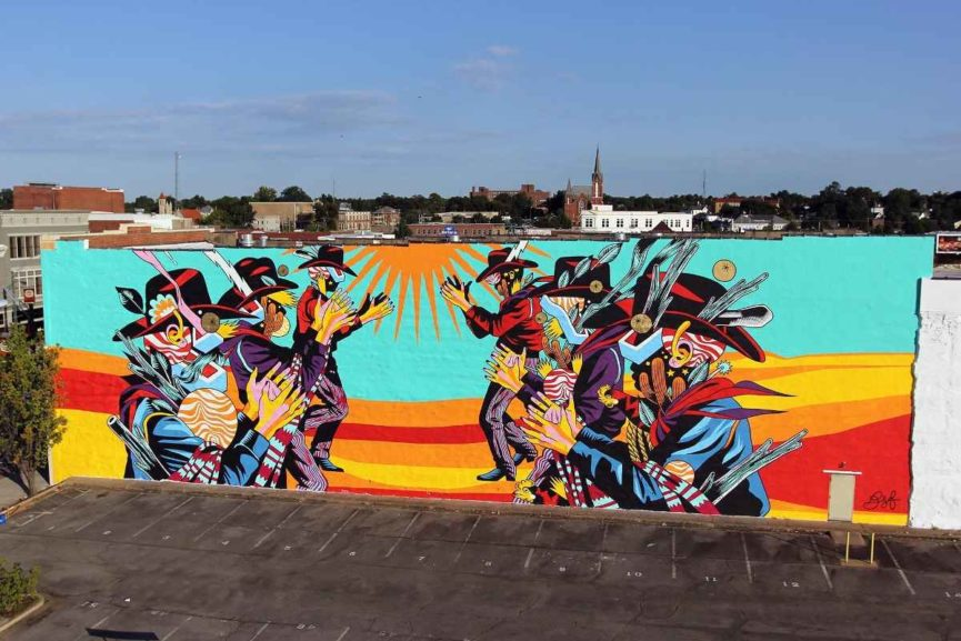 best murals of the unexpected art festival in fort smith curated