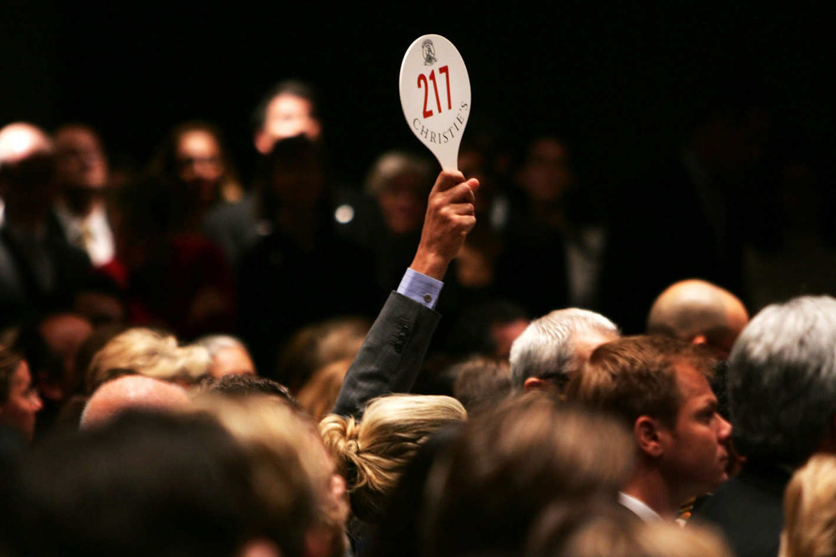 Bidding During a Christie's Auction