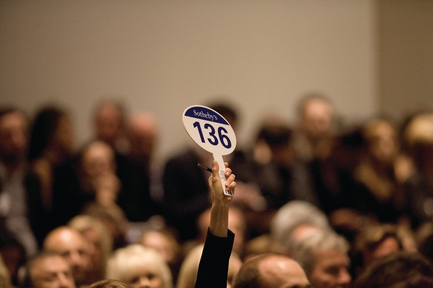 Bidding During a Sotheby's Auction