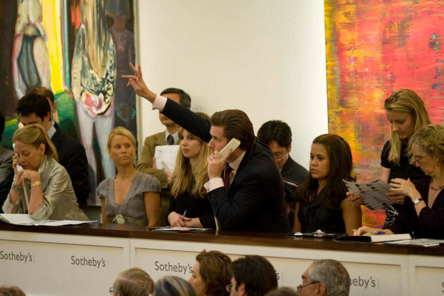 Bidding at Sotheby's (Courtesy of Art Market Monitor)