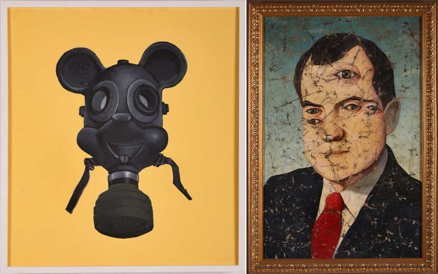 Mickey Mouse Gas Mask, 2011 / Nixon, 1998