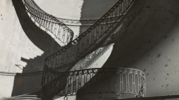 Bill Brandt, Bombed Regency Staircase, Upper Brook Street, Mayfair (detail), 1942