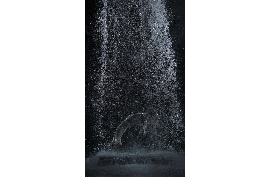Bill Viola - Tristan's Ascension (The Sound of a Mountain Under a Waterfall), 2005