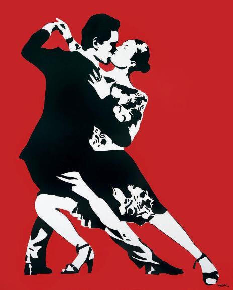 Blek Le Rat - Last Tango (Red), 2008 (166 x 133,5 cm)