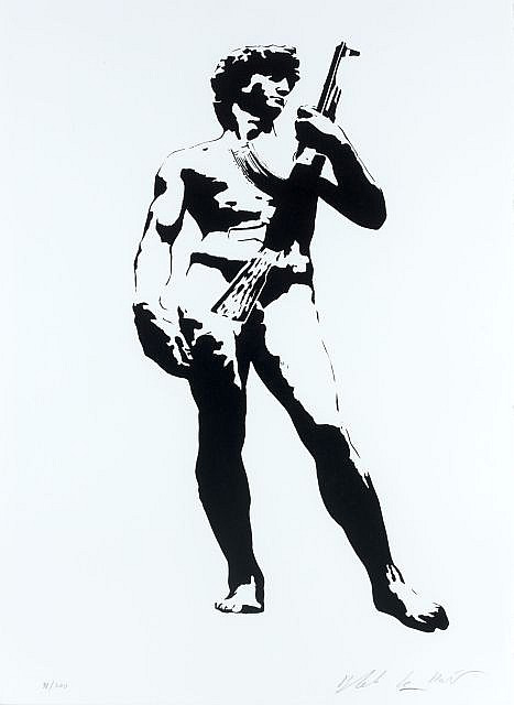 Blek le Rat-David with Kalashnikov-2007