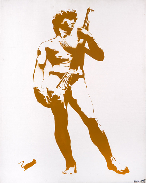 Blek le Rat-David with Kalashnikov-2008