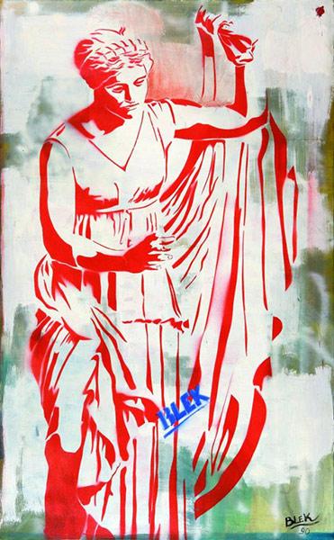 Blek le Rat-La Statue de la Liberte-1990