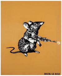 Blek le Rat-Le rat a fleur-2012