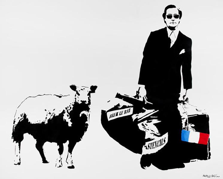 Blek le Rat-Man Who Walks through Walls With a Sheep-2007