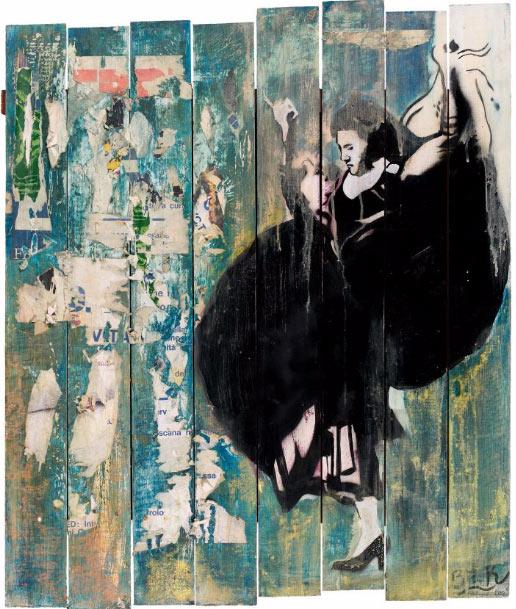 Blek le Rat-Sans titre (Tango)-1990