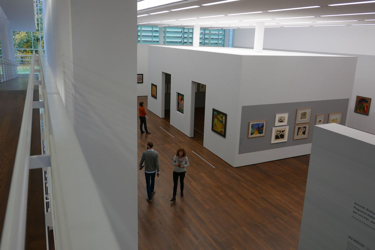 The installation view of DIE BRÜCKE, Museum Frieder Burda