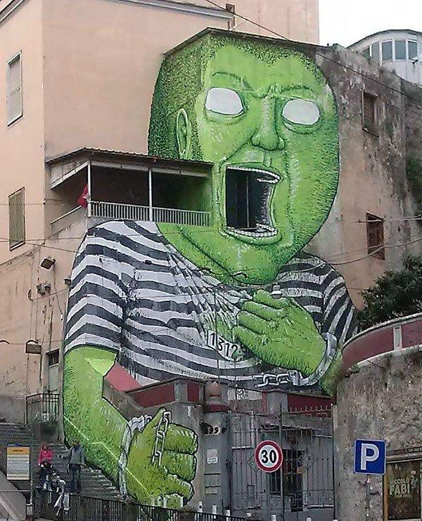 Blu - Green Giant - Napoli, Italy, 2016