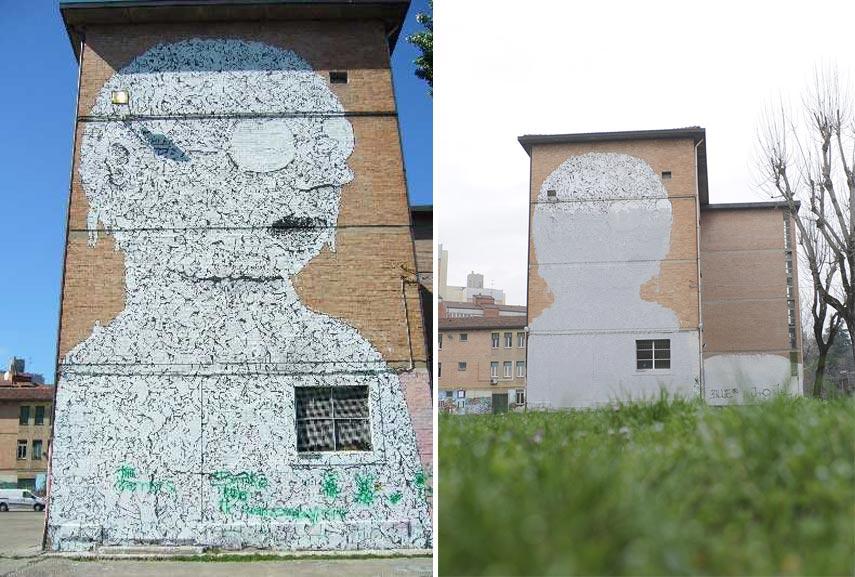 Blu mural Bologna