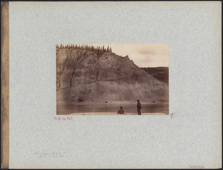 George Mercer Dawson - Bluff on Pelly River