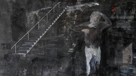 Bogdan Vladuta - Man imitating Van Gogh (detail), 2013