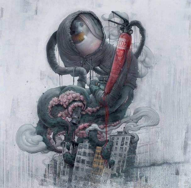 Bom.K - Vandal Monster, 2013 (160 x 160 cm)