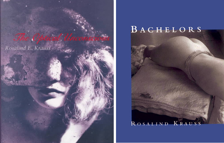 Book Covers of The Optical Unconscious and Bachelors, A david theory is about the ways of life