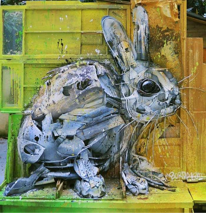 Bordalo II - Bunny in Portugal
