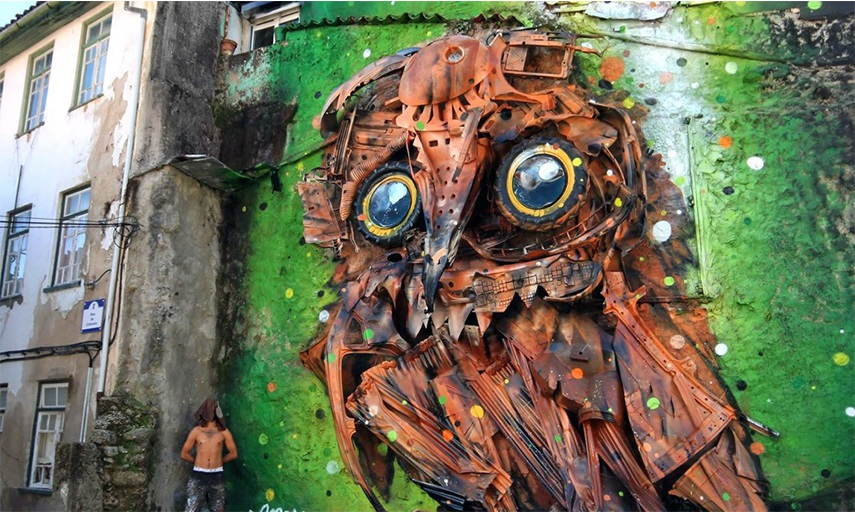 Bordalo II posts  design  sculptures contact  trash  lisbon  instagram  new posts  design  sculptures