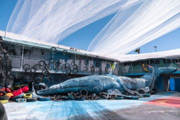 A Justkids-Curated Zoo Parody by Bordalo II Sees Light in Las Vegas!