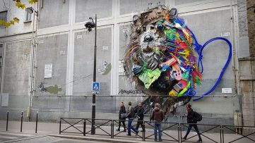 The Most Beautiful Murals of 2017 - Bordalo II in Paris, France