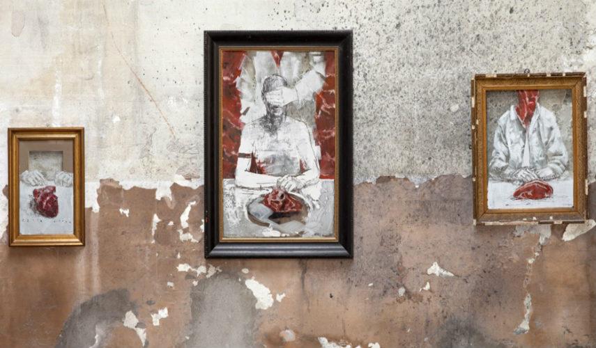 Borondo - Chained Wunderkammern, 2015, Milan, copyrights © artist
