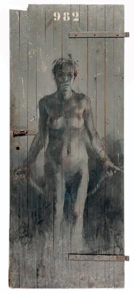 Borondo - Femme, porte n°982, 2013 (199 x 86 cm)