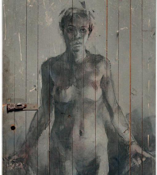 Borondo - Femme, porte n°982, 2013 - detail