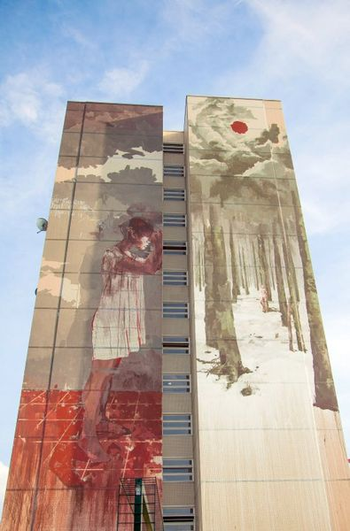 june in spain and france borondo mural france