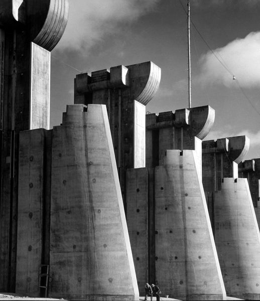 Margaret Bourke-White - Fort Peck Dam, Fort Peck, MT 1936, on view at Atlas Gallery