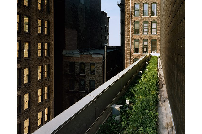 Brad Temkin - 425 South Wabash (looking East) – Chicago, IL, June 2013, From the series Rooftop, Courtesy of the Artist and Innova Art LTD