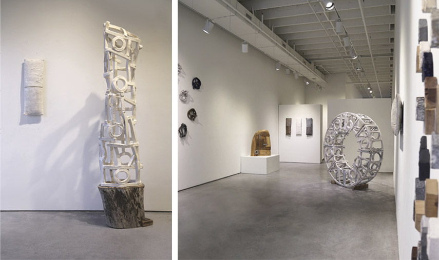 Brandon Reese at Exhibit by Aberson - reese ceramic sculptures