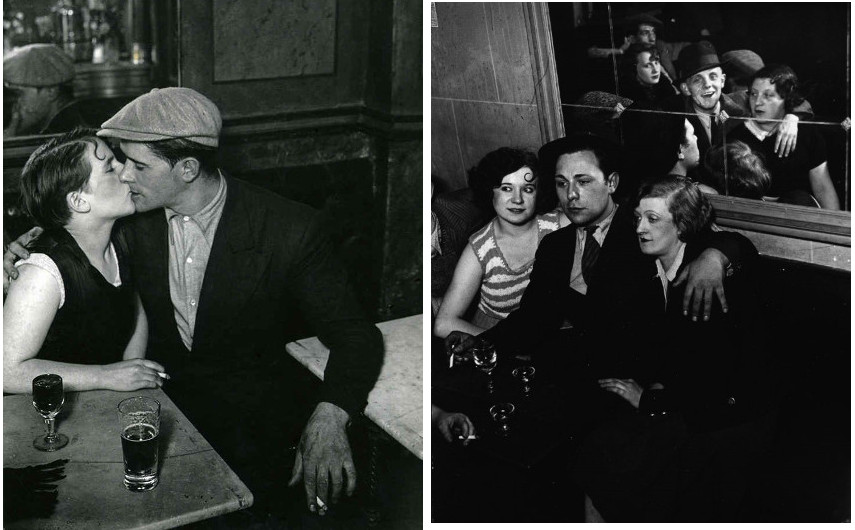 Brassai - Parisian couple, 1932 (Left) --- Revista (Right) - Brassaï photographs of the city are pieces of arts both for a photographer and a published book