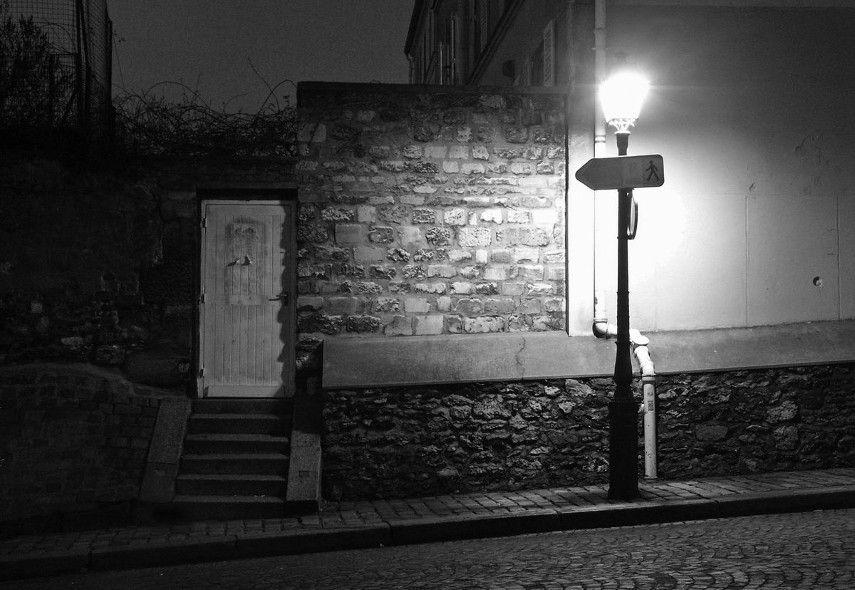 Brassai - Untitled photo of the street in Paris