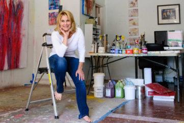 Brenda Zappitell - in her studio