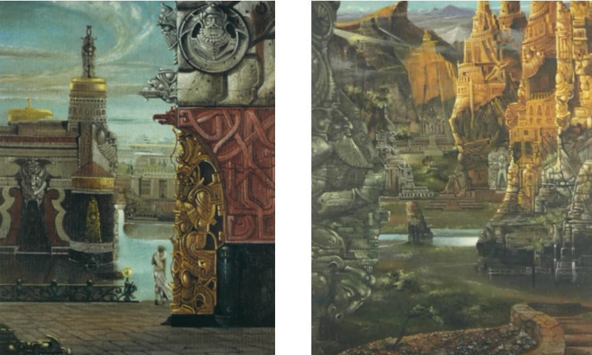 Brero Dovilio - City of the North (Left) / Necropolis Ancient Atlan (Right)