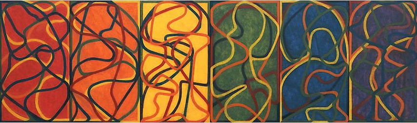 Brice Marden - The Propitious Garden of Plane Image, First Version, 2000-2005 american