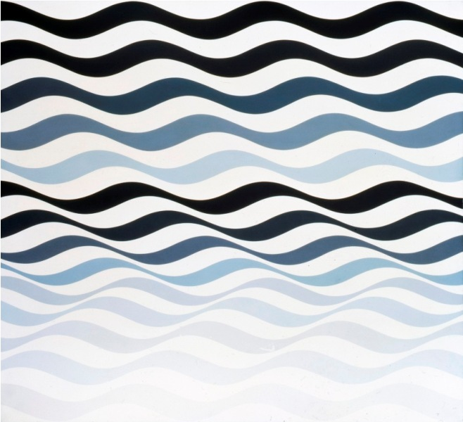 Top Bridget Riley: The Stripe Paintings | Widewalls OO29