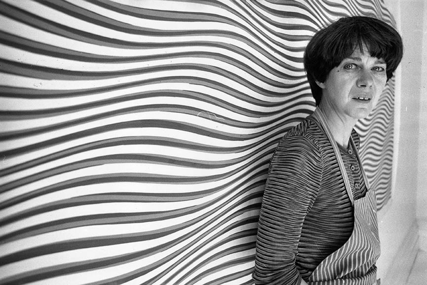 Bridget Riley is one of the most famous female painters whose art influenced the history of contemporary art