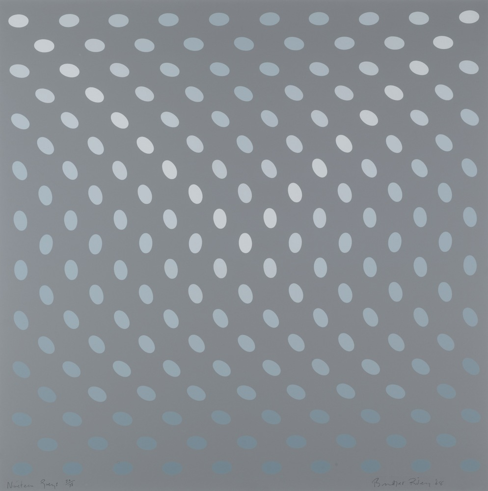 Bridget Riley-Untitled (Nineteen Greys A)-1968