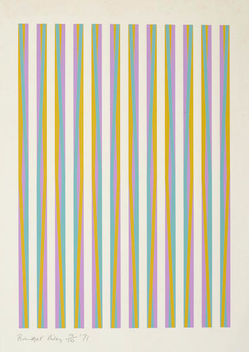 Bridget Riley-Untitled from Print for Chicago 8-1971